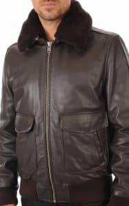 Veste cuir guess pour homme
